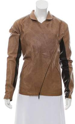 Zero Maria Cornejo Double-Breasted Leather Jacket
