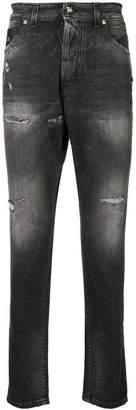 John Richmond distressed decorative stud jeans