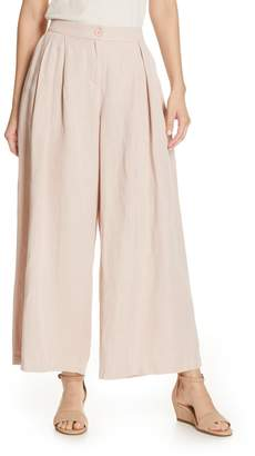 Eileen Fisher Pleated Wide Leg Trousers