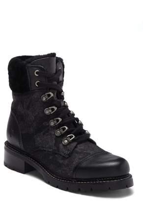 Frye Samantha Genuine Shearling Lined Hiker Boot