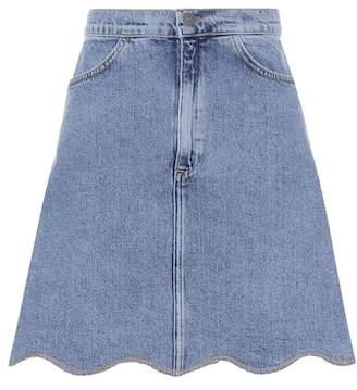 MiH Jeans Scalloped denim skirt