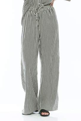 Olive + Oak Stripe Wideleg Pant