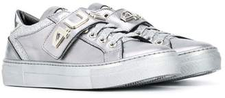 Cesare Paciotti 4Us Kids TEEN 4Us touch strap sneakers