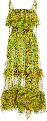 Michael Kors Belted Silk Sundress
