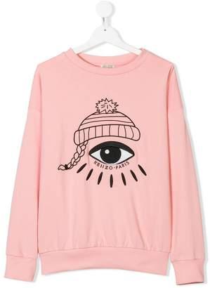 Kenzo eye print jersey sweater