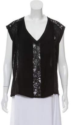 Alexis Lace-Paneled Sleeveless Top