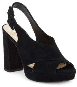 Vince Camuto Javasan Retro Suede Platform Sandals