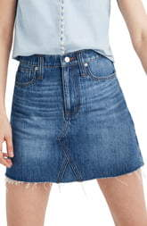 Madewell Eco Edition Rigid Denim A-Line Miniskirt