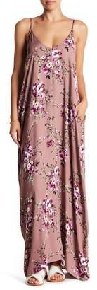 Love Stitch Floral Printed Maxi Dress