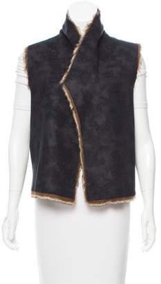 Velvet Faux Shearling Vest