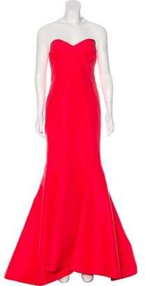 Zac Posen Silk Strapless Gown