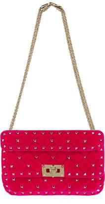 Valentino Small Velvet Rockstud Spike Shoulder Bag