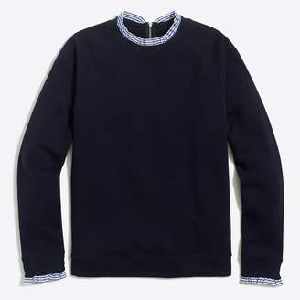 J.Crew Factory Woven ruffle-neck pullover