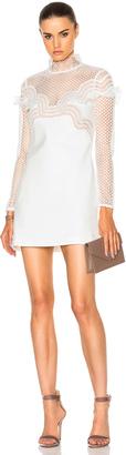 self-portrait Wave Trim Mini Dress $410 thestylecure.com