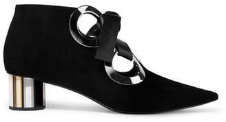 Proenza Schouler Eyelet-embellished Suede Ankle Boots - Black