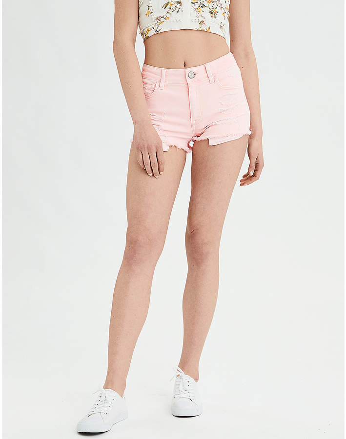 Aeo AE Denim X High-Waisted Shortie