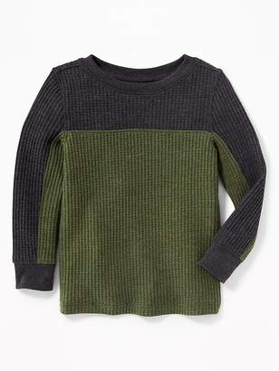 Old Navy Color-Block Thermal Tee for Toddler Boys