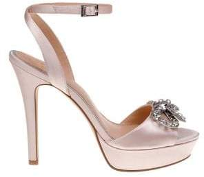 Badgley Mischka Mildred Satin Stiletto Sandals