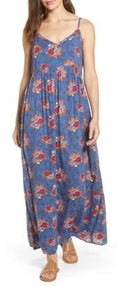 Caslon Print Slip Maxi Dress
