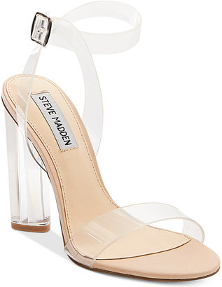 Steve Madden Women's Teena Lucite Dress Sandals $109 thestylecure.com