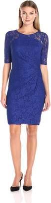 Decode 1.8 Women's Illusion Short Sleeve Sequin Cocktail Dress