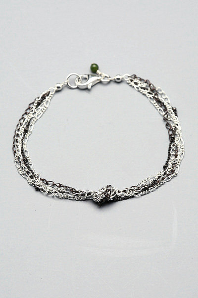 Wasabi Multi Chain Knotted Bracelet