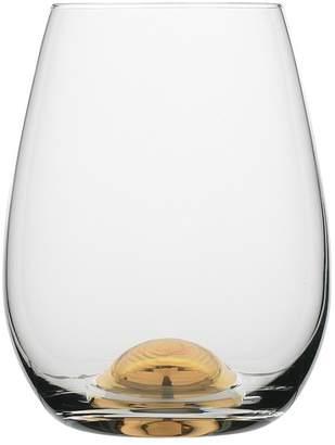 Set of 4 Selene Gold Dimple Stemless Wine Glasses
