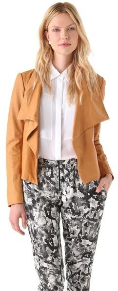 Theory Kanya L Rowdy Leather Jacket