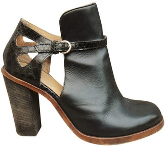 Maison Margiela Leather buckled boots