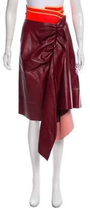 Martina Spetlova Asymmetrical Leather Skirt