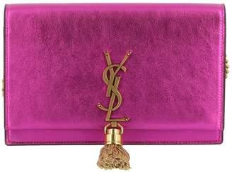 Saint Laurent Mini Bag Kate Monogram Bag Chain Wallet In Real Laminated Leather
