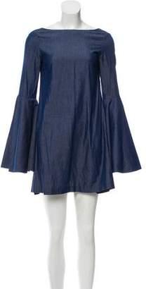 Azeeza Chambray Bell Sleeve Dress
