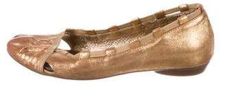 Vic Matié Metallic Round-Toe Flats