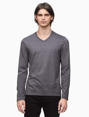 Calvin Klein slim fit v-neck long sleeve shirt