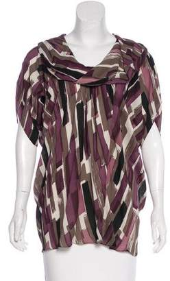Poleci Silk Cowl Neck Blouse