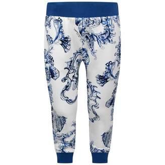 Roberto Cavalli Roberto CavalliGirls Blue Baroque Print Sweatpants