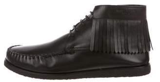 Saint Laurent Fringe Moccasin Desert Boots w/ Tags