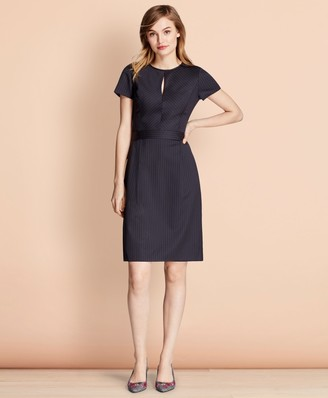 Brooks Brothers Pinstripe Stretch Wool Dress