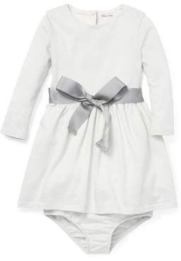 Ralph Lauren Childrenswear Baby Girl's Two-Piece Belted Dress & Bloomers Set