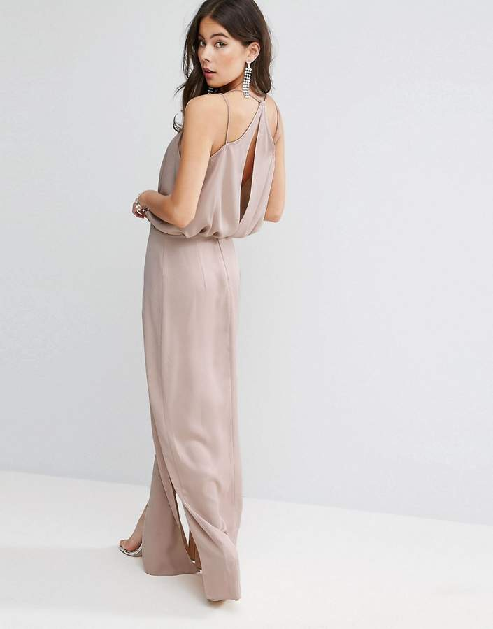 Asos ASOS Drape Front Strappy Back Maxi Dress