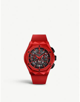 Hublot 525.OX.0180.RX.1804.ORL19 Classic Fusion Aerofusion Chronograph Orlinski ceramic and rubber watch