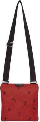 Alexander McQueen Red Dancing Skeleton Crossbody Bag