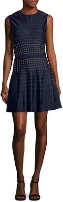 Roberto Cavalli Embellished Crewneck Dress
