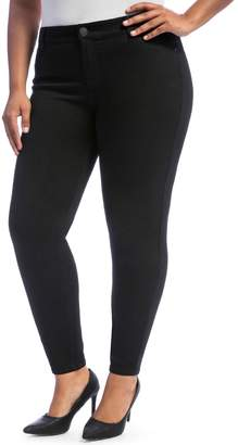 Juniors' Plus Size Crave Black Rinse Skinny Jeans