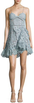 Self-Portrait Paisley Vine Sleeveless Mini Dress, Light Blue $435 thestylecure.com