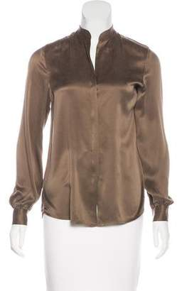 L'Agence Long Sleeve Button-Up Top