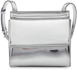 Calvin Klein Folder Crossbody Metallic Leather Shoulder Bag