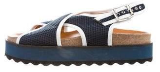 Ganni Mesh Wedge Sandals