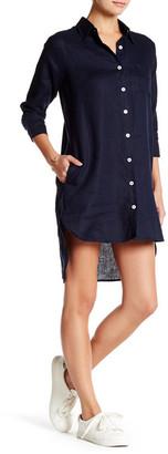 Allen Allen Linen Shirt Dress (Petite) $148 thestylecure.com