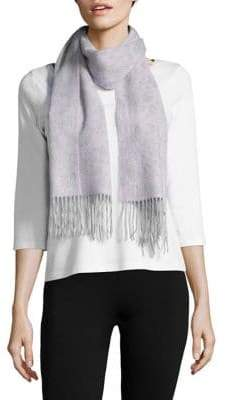 Lord & Taylor Border Floral Cashmere Scarf